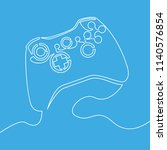 joystick single line drawn... | Shutterstock .eps vector #1140576854
