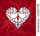 an abstract heart in ornament...   Shutterstock . vector #114057709