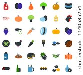colored vector icon set   spike ... | Shutterstock .eps vector #1140585254