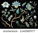 ethnic japanese ornament... | Shutterstock .eps vector #1140585977