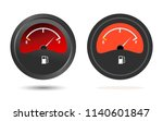 set of two fuel gauge icons ... | Shutterstock .eps vector #1140601847