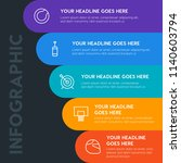 flat health  sports infographic ... | Shutterstock .eps vector #1140603794