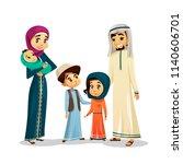 arab islamic family in... | Shutterstock . vector #1140606701