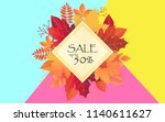 autumn sale template with fall... | Shutterstock .eps vector #1140611627