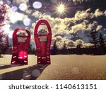 winter view from camping  tent... | Shutterstock . vector #1140613151