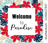 welcome to paradise. | Shutterstock .eps vector #1140617357