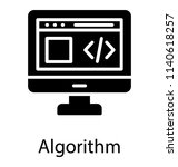 a html source code on monitor... | Shutterstock .eps vector #1140618257