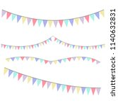 different colorful bunting for... | Shutterstock .eps vector #1140632831