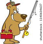 cartoon illustration of a bear... | Shutterstock .eps vector #1140634637