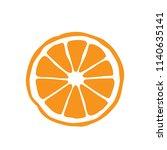 slice of orange | Shutterstock .eps vector #1140635141