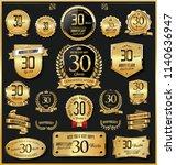 anniversary retro vintage... | Shutterstock .eps vector #1140636947