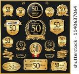 anniversary retro vintage... | Shutterstock .eps vector #1140637064
