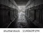 exit from the drainage sewage... | Shutterstock . vector #1140639194