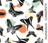 lovely seamless butterfly kite... | Shutterstock .eps vector #1140639674