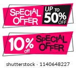 special offer  sale banners... | Shutterstock .eps vector #1140648227