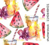 fruit c ocktails bar party... | Shutterstock . vector #1140648431