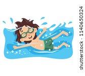 vector illustration of kid... | Shutterstock .eps vector #1140650324