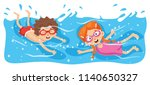 vector illustration of kid... | Shutterstock .eps vector #1140650327
