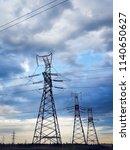 high voltage power lines | Shutterstock . vector #1140650627
