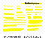 vector highlighter brush set.... | Shutterstock .eps vector #1140651671