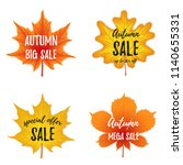 vector autumn season banner... | Shutterstock .eps vector #1140655331