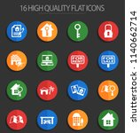 real estate vector icons for... | Shutterstock .eps vector #1140662714