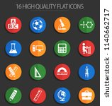 school vector icons for web and ... | Shutterstock .eps vector #1140662717