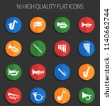 wind instruments web icons for... | Shutterstock .eps vector #1140662744