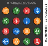 spacecrafts web icons for user... | Shutterstock .eps vector #1140662831