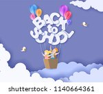 back to school 1 september card ... | Shutterstock .eps vector #1140664361