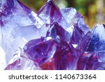 crystal stone macro mineral... | Shutterstock . vector #1140673364