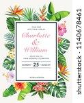 tropical hawaiian wedding... | Shutterstock .eps vector #1140678461