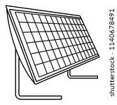 battery solar panel icon.... | Shutterstock .eps vector #1140678491