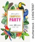 tropical hawaiian party... | Shutterstock .eps vector #1140678587