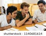 mentor instructing interns in...   Shutterstock . vector #1140681614