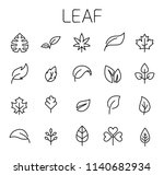 leaf related vector icon set.... | Shutterstock .eps vector #1140682934