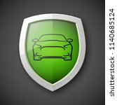 protect car guard shield.... | Shutterstock .eps vector #1140685124