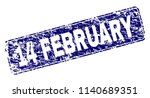 14 february stamp seal... | Shutterstock .eps vector #1140689351