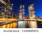 architecture of chicago at... | Shutterstock . vector #1140689651