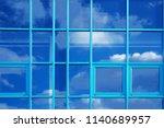 sky in office windows. eco... | Shutterstock . vector #1140689957