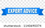 expert advice text on a ribbon. ... | Shutterstock .eps vector #1140690374