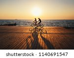 couple of young hipsters... | Shutterstock . vector #1140691547
