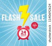 flash sale banner template... | Shutterstock .eps vector #1140692624