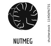 nutmeg icon. simple... | Shutterstock .eps vector #1140696731