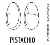 pistachio icon. outline... | Shutterstock .eps vector #1140696911