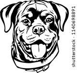 rottweiler dog breed pet   Shutterstock .eps vector #1140698891