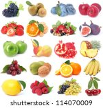 fruit collection | Shutterstock . vector #114070009