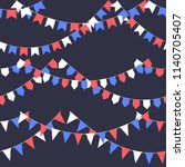 set of garland with celebration ... | Shutterstock .eps vector #1140705407