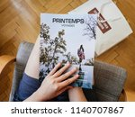 paris  france   jul 1  2018 ... | Shutterstock . vector #1140707867
