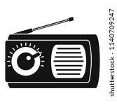manual radio icon. simple... | Shutterstock .eps vector #1140709247